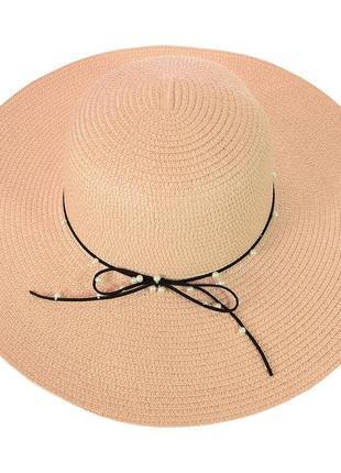 Шляпа летняя из соломки