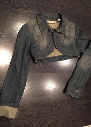 Джинсовый пиджак накидка