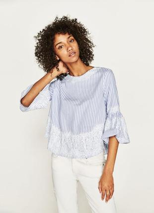 Шикарная блузка с кружевом zara