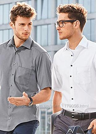 Мужская белая рубашка с коротким рукавом royal class xl