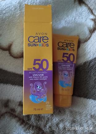Солнцезащитный детский крем spf50