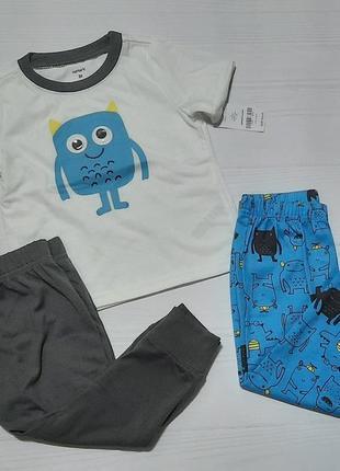 Набор тройка пижама 3t carter's картерс футболка штаны 2-3 3-4