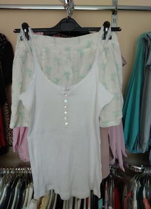 Пижама шорты майка women'secret stradivarius