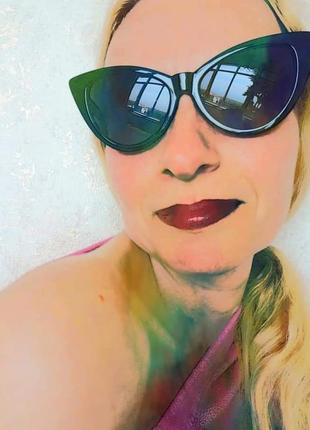 Распродажа солнцезащитные очки от солнца винтаж ретро винтажные окуляри ошечки лисички