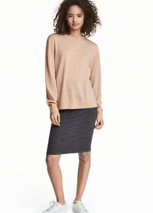 Базовая юбка карандаш из двойного трикотажа от h&m,p. m и  l