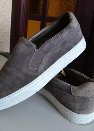 Allsaints замшевые кожаные слипоны туфли кроссовки