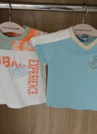 Новые футболки для мальчика 9-12 месяцев
