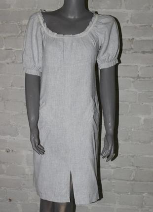 Актуальное платье из льна