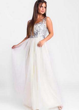 Шикарное длинное платье лимонное арт1715