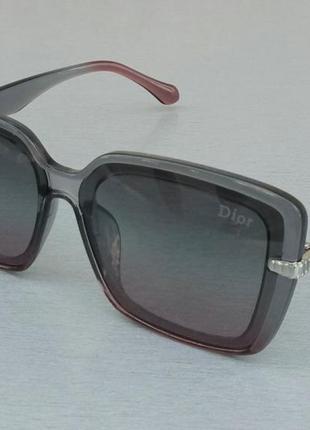 Женские солнцезащитные очки в стиле christian dior серо бордовые