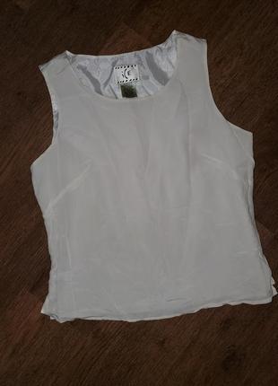Шёлковый блуза топ блуза 100%шёлк ice