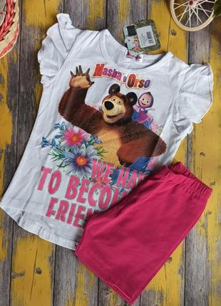 Набор футболка и шорты для девочки arnetta, (98 см)