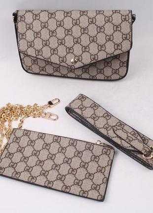 Gucci стильная сумка клач