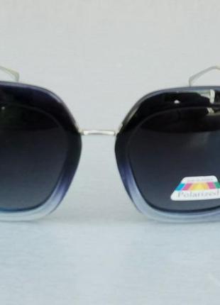 Fendi очки женские солнцезащитные черные с синим поляризированые