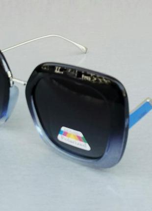 Fendi очки женские солнцезащитные черные с синим поляризированые2 фото