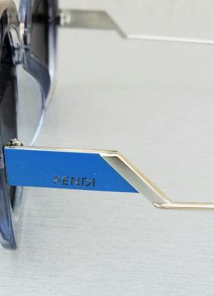 Fendi очки женские солнцезащитные черные с синим поляризированые4 фото