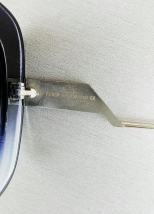 Fendi очки женские солнцезащитные черные с синим поляризированые5 фото