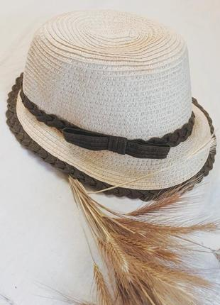 Соломенная натуральная шляпка