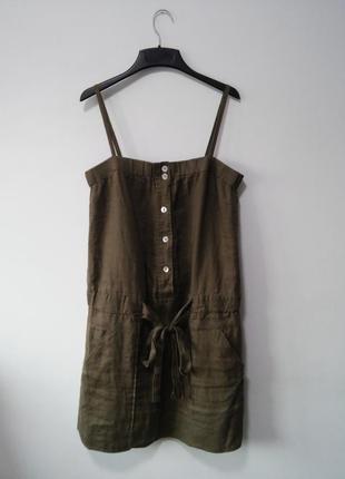 Платье сарафан льняной