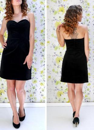Платье вельвет h&m