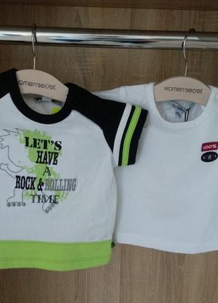 Новые футболки на 3-6 месяцев