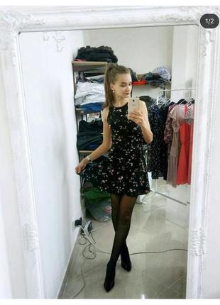 Трикотажное платье с&а