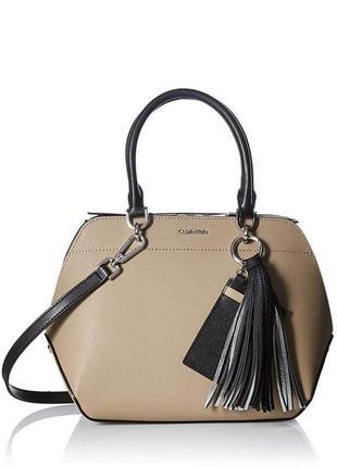 Сумка кожаная calvin klein susan saffiano leather satchel bag h8gd18ue оригинал