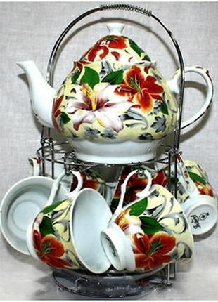 Чайный сервиз лилия на 13 предметов