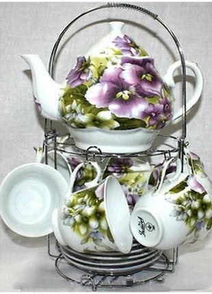 Чайный сервиз фиалка на 13 предметов