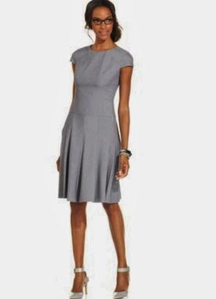 Anne klein платье а-силуэт из мужской костюмной ткани 48 р