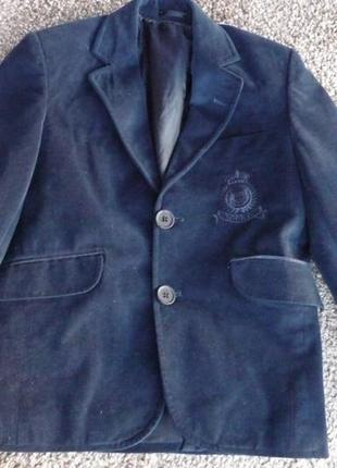 Піджак велюровий унісекс на 6-8 років