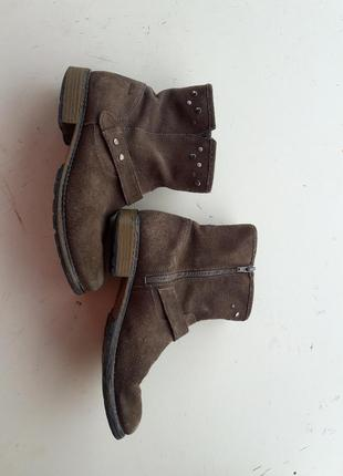 Замшевые сапоги ботинки торг