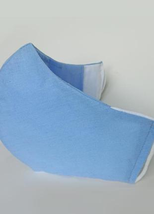 Трёхслойная маска для лица с карманом для фильтра