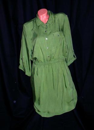 Шикарное платье - рубашка цвета хаки - xxxl - xxl