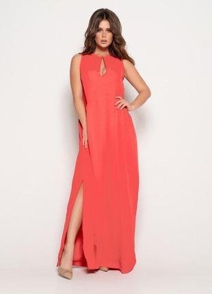 Длинное платье срафан с разрезом