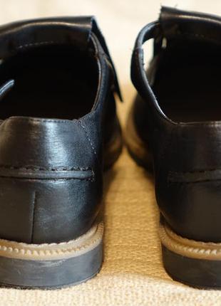 Черные кожаные туфли с длинной бахромой clarks somerset англия 38 р.9 фото
