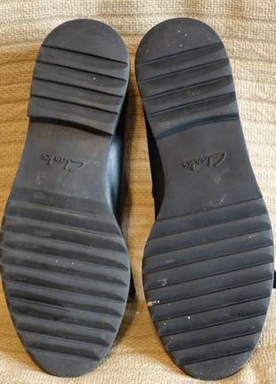 Черные кожаные туфли с длинной бахромой clarks somerset англия 38 р.10 фото