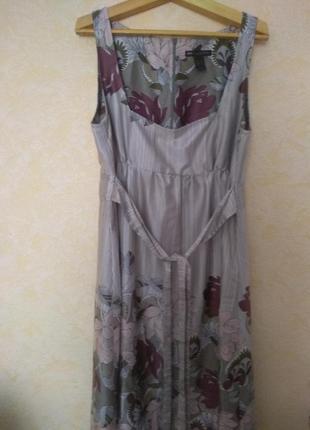 Шелковое платье-сарафан