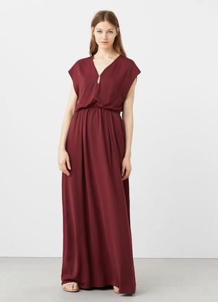 Нарядное шелковое платье l mango