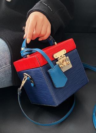 Сумочка женская, жіноча сумка, сумка недорого, квадратная сумка, сумка, синяя сумка