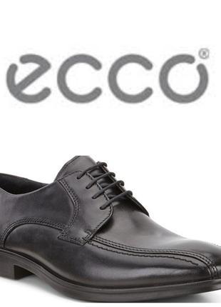 Кожаные туфли дерби экко ecco melbourne р.43 оригинал новые