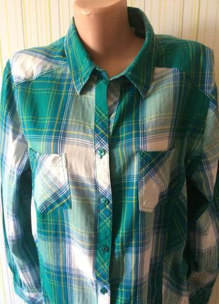 #рубашка в клетку#,блузка в клетку 100% коттон#