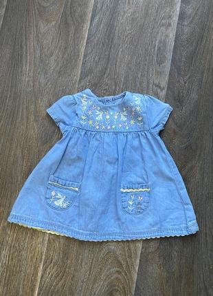 Легкое платьице 0-3м