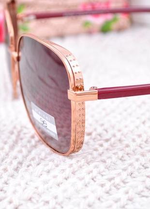Фирменные крупные очки eternal polarized с боковой шорой