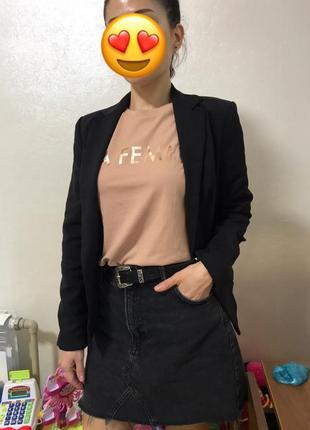 Новый стильный базовый летний пиджак жакет блайзер черный размер s от бренда atmosphere