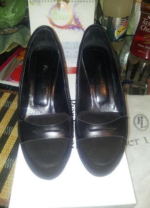 Туфли черные замшевые pier lucci