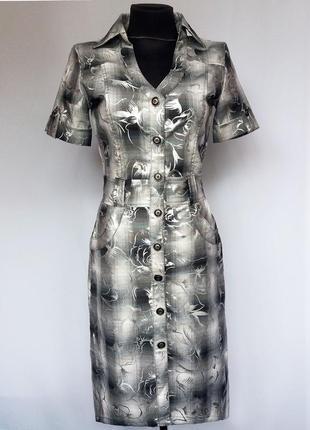 Суперцена. стильное  платье на пуговицах. клетка. турция. новое, р-ры 42-58