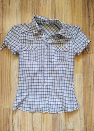 Летняя рубашка тениска в клетку