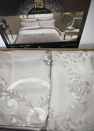 Двуспальный евро комплект tac dorian vizon сатин-delux постель