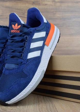 👟 кроссовки мужские adidas zx 500 синие 👟